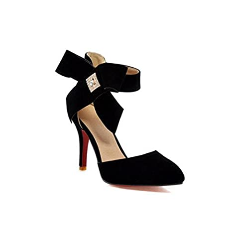 Women's Fashion High Heels Ankle Wrap Platform Party Outdoor Sandal Black / US 5.5