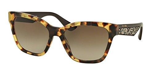 Miu Miu Unisex MU06RS Sonnenbrille, Braun (Havana 7S01X1), One size (Herstellergröße: 57)