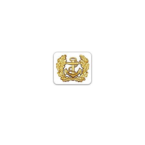 Aufkleber / Sticker -Mützenkranz Abzeichen Marine Bundesmarine Bundeswehr Heer Deutschland Einheit Militär Uniform Offizier Soldaten Anker Wappen Emblem 8x7cm #A3220 Marine-offizier-abzeichen