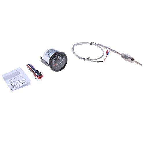 perfk 52mm 2 Zoll Zusatzinstrument Abgastemperaturanzeige Digital-Analog-geführte Abgastemperatur Temperatur Schalttafel - # 1