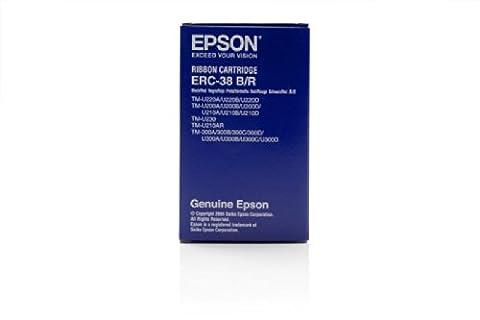 Epson C43S015376 - EPSON BLACK/RED ERC38 RIBBON TM-U210TM-300A B C D BLACK RED