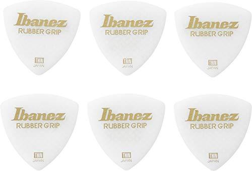 Ibanez Grip Wizard - Puños de goma para raqueta (0,6 mm, 6 unidades), color blanco