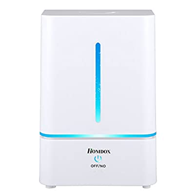 Humidifier Mist Cool Ultrasonic Air for Baby Home Room Bedroom Office Yoga No Noise Aroma Essential Oil Diffuser Purifies the Dry Atmosphere Night Lights Automatic Waterless Shut-off 4L 1.1 Gallon