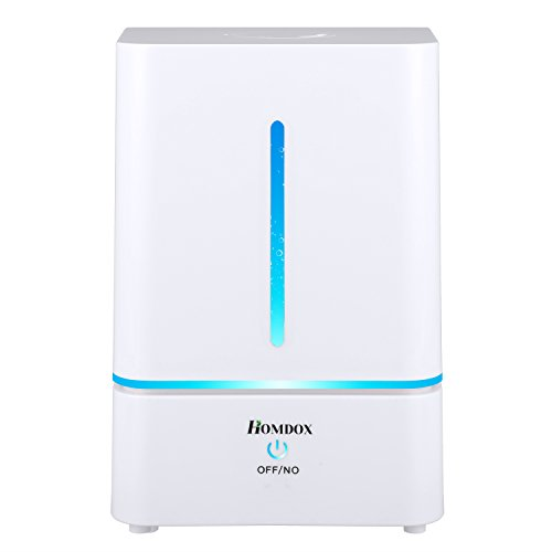 Homdox 4L Cool Mist Humidifier, Aroma Essential Oil Diffuser Ultrasonic Humidifier Zero Noise, Built-in Water Purifier, Waterless Shut-off, Night Light Function