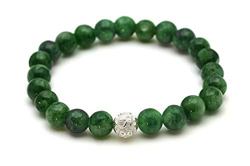Echtes Jade Armband - Glücksbringer mit Naturstein Perlen