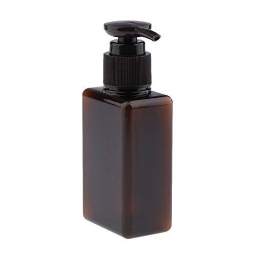 B Blesiya 100ml Distributeur de Savon en Plastique Bouteille de Voyage pour Crème Shampooing Gel Récipient vide Cosmétique - Marron