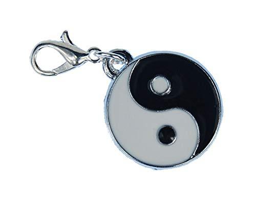 Miniblings Yin Yang Charm Anhänger Bettelarmband Ying Zeichen Daoismus Taijitu