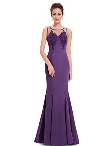 Ever Pretty Robe de soiree Maxi Fishtail Moulante 08358 Violet