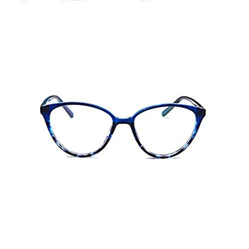 Preisvergleich Produktbild WooCo Retro Brille für Damen und Herren,  Ausverkauf Fashion Frame Flat Mirror Brillengestell Acht Farbe Eyewear(Blau, One size)