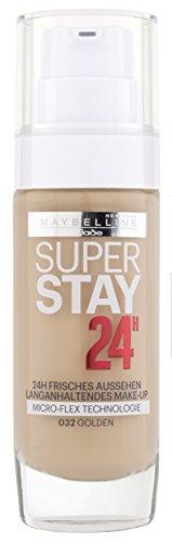 Maybelline New York Superstay 24H Make-Up Golden 32 / Schminke in einem Hautfarben-Ton, für eine langanhaltende Abdeckung und einen makellosen Look, 1 x 30 ml