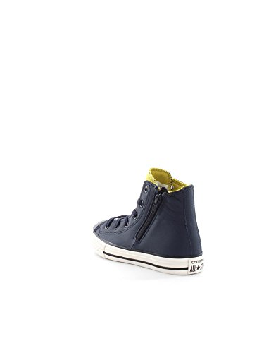 CONVERSE 655164C ALL STAR HI SIDE ZIP SNEAKERS Unisex Junior OBSIDIAN-B.LEMON-S.