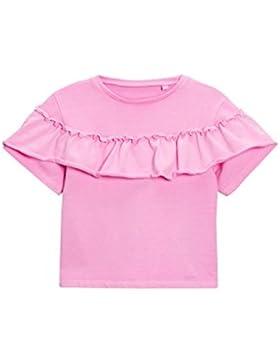 next Niñas Camiseta Cuello Redondo Volante Parte Delantera (3 Meses-6 Años) Estándar