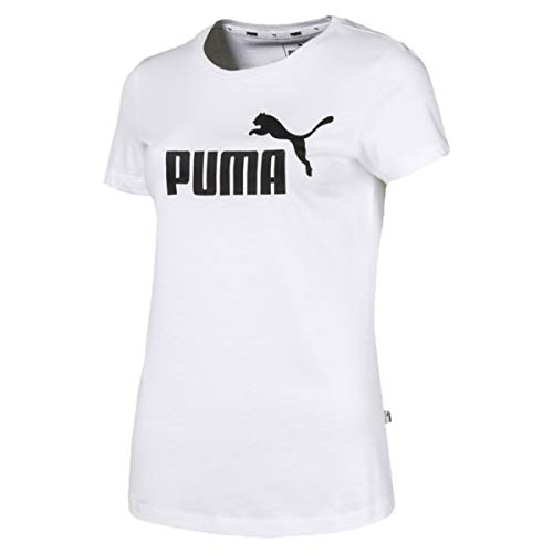 Puma Damen ESS Logo Tee T-Shirt White, L