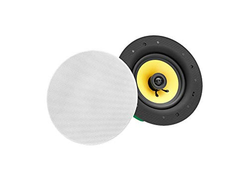 Pronomic CLS-540 WH High-End Gewebe Einbaulautsprecher (2-Wege Decken-Lautsprecher Box, 5,25