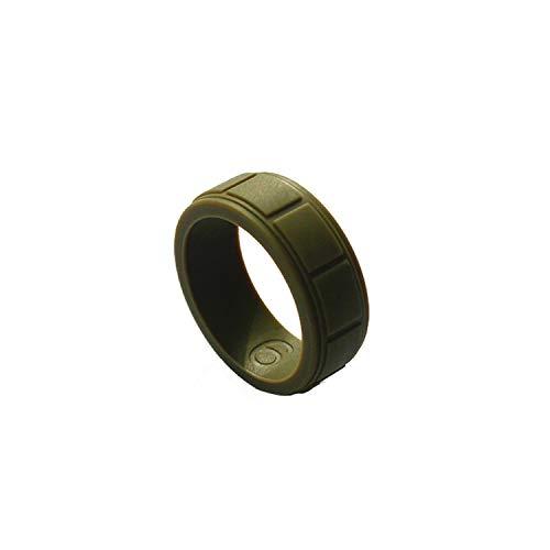 Tiamo Violet Food Grade Fda Silikon-Ringe für Männer Hochzeit Gummibänder Flexible Sport Silikon-Finger-Ring, 9, Armee-Grün (Für 9 Frauen-größe Camo-ringe)