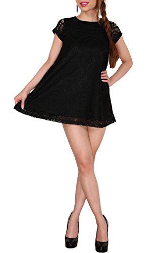 SODACODA 2 modèles en 1 - Lace Dress Robe de soirée, bal, de maternité - Toutes les couleurs et tailles Noir