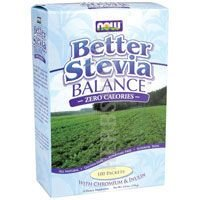 Better Stevia Balance, Zero Calories, 100 Packets, (1.1 g) Each - Now Foods from Now Foods