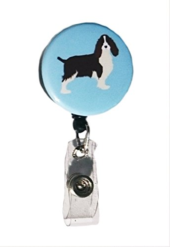 English Springer Spaniel Hunderasse Retractable Badge Reel ID Badge Holder -