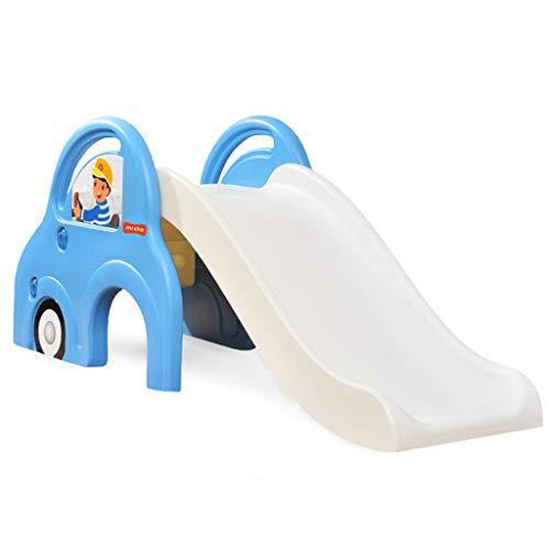 Freistehende Rutschen Kinderrutsche Indoor Home Baby Kleiner Spielplatz Kindergartenspielzeug Auto Rutsche Für Kinder Übung Baby Balance, Koordination (Color : Blue, Size : 142x40x60cm) (Rutsche übung)