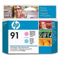 HP 91 Light Magenta and Light Cyan Printhead -