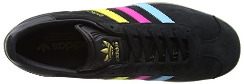 adidas Gazelle, Scarpe Running Uomo Multicolore (Core Black/bright Cyan/shock Pink)