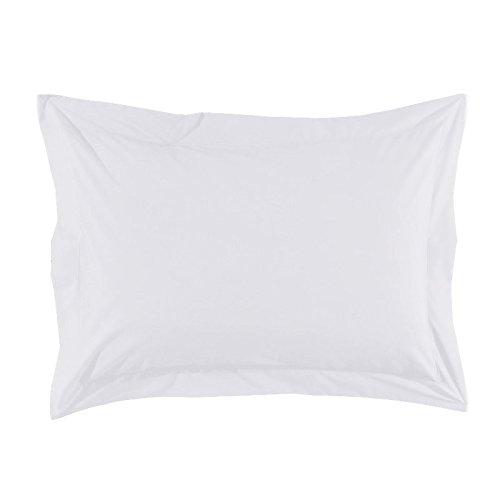 ESSIX Taie d'oreiller Royal Line Percale de Coton Blanc 50 x 70 cm