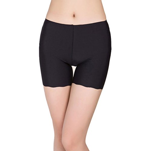 Frauen Yoga Bike-shorts (Tinksky Frauen Boyshort Underskirt Hose Kurze Leggings Yoga Bike Shorts für Kleid (Schwarz))