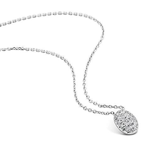 en Halskette mit Diamant Weißgold 9 Karat (375) Diamant 0.09crt, Goldkette ()