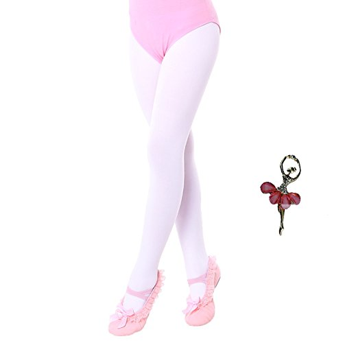 Ballettstrumpfhose mädchen hautfarben Turnanzug Ballett Unterwäsche Strümpfe Slips Dance for Girls Women Briefs Dancing Panties Leggings Stocking Tights Underpants Underwear Weiß S 3 4 5 Jahre Alt
