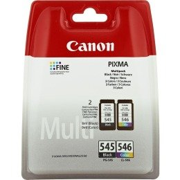 1x Set Original Canon PG545 PG 545 CL546 CL 546 Tintenpatronen - Black + Color - für Pixma MG 2950