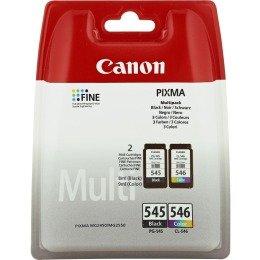 Canon 2x PG-545CL 546/8287B 0058287B005, Original, Schwarz CL 546Original Tinte schwarz/cyan/magenta/gelb