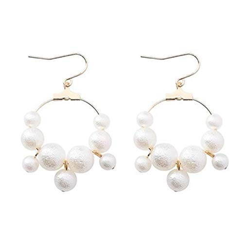 Smart Japanese Simple Creative Paper Crane Long Asymmetric Clip Earrings Women Girl Fashion Geometric Round Imitation Pearl Jewelry Elegant Shape Jewelry & Accessories Clip Earrings