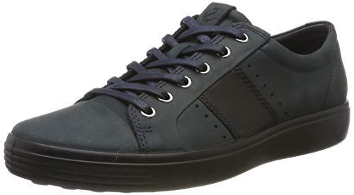 ECCO Herren Soft 7 M Sneaker, Blau (Marine/Black 50545), 43 EU