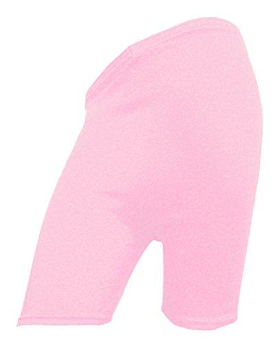 RD Fashion ® de cyclisme en coton pour femme Motif Dancing-Short stretch-dessus du genou Active Short Short de Sport/legging Multicolore - Rose