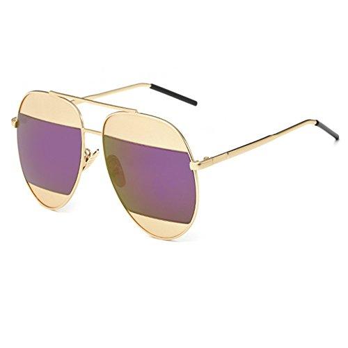 O-C Damen Sonnenbrille, Violett (John Lennon Hippie Kostüm)
