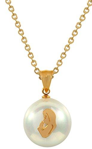 hmuck-Sets für Damen, Anhänger Halskette & Ohrringe Weiß Pearl Golden Mermaid Gold (Karneval-perlen Großhandel)