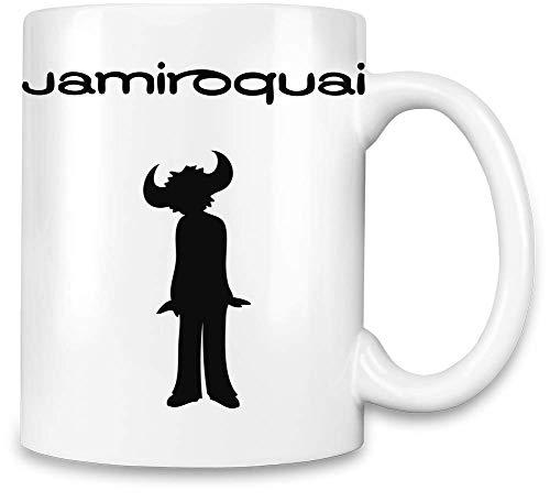 Jamiroquai Logo Noir Black Logo Unique Coffee Mug | 11Oz Ceramic Cup| The Best Way to Surprise Everyone on Your Special Day| Custom Mugs by