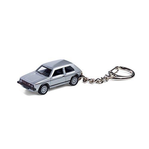 corpus delicti Schlüsselanhänger mit Modellauto für alle Auto- und Oldtimerfans - Kultauto VW Golf GTI I Silber