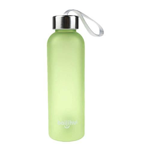 NEEKY Trinkflasche Sportflasche Fahrrad Outdoor Fitness Wasserflaschen - Neuer Fester Fruchtsaft Tragbare Reise Flaschen Wasser Schale 600ML