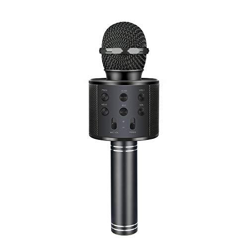 EUTOYZ Beste Spielzeug Spielzeug für Jungen 5-10 Jahre, Drahtlose Bluetooth Karaoke Mikrofon mit Lautsprecher für Erwachsene und Kinder Geschenke für Mädchen ab 5-12 Jahre -