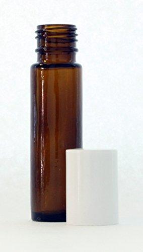 10 ml (1/3 fl oz) Amber Glass Essential Oil Roll On Bottles - Pack of 24 Depression Glass Set