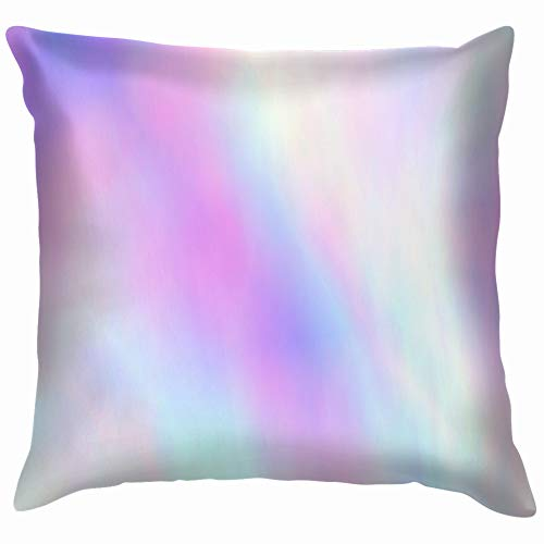 beautiful& Very Iridescent Paper Holographic Foil The Arts Cotton Throw Pillow Case Cushion Cover Home Office Decorative, Square 18X18 Inch