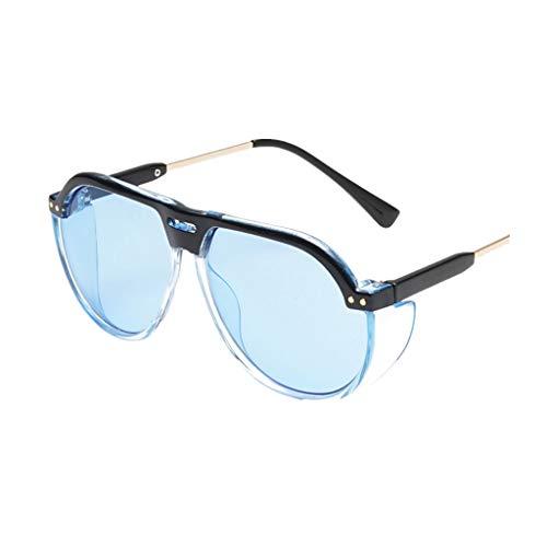 EUCoo Damen ZubehöR Sonnenbrille Netzwerk Roter StraßEnschießE NaugenreisegläSer Der Retro- Art Und Weisennetzes(Blau)