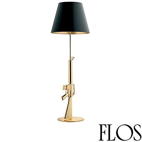 Flos Guns Lounge Gun lámpara de Terra f2955000dorado brillante 18K Design Philippe Starck 2005