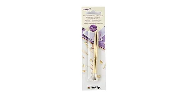 CarryC Lot de 2 aiguilles /à tricoter interchangeables en bambou 3.25mm