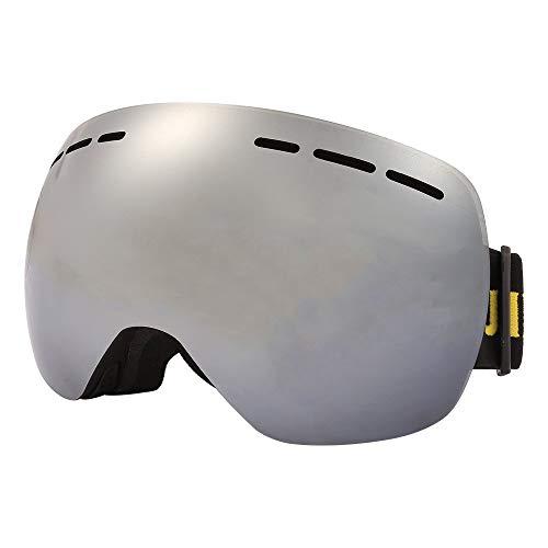 LQZHP Skibrille für Damen und Herren, für den Winter, Skifahren, Skifahren, Snowboard-Sonnenbrille, doppellagig, beschlagfrei, UV400, Erwachsene