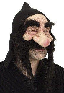 Orlob Zwerg Maske schwarz Einheitsgröße (Dachs Kostüm Maske)