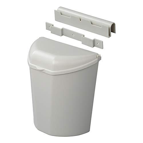 Abfalleimer grau, inkl. Halterung, kompaktes Maß (26,5 x 30 x 17), ideal für Camping