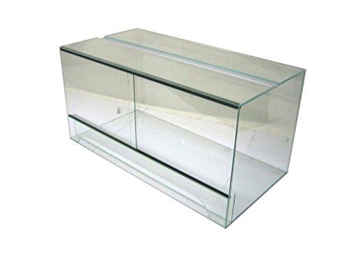 Terrarium 100x50x50 cm mit Schiebetür, Glasterrarium, Schlangen Bartagamen Gekkos
