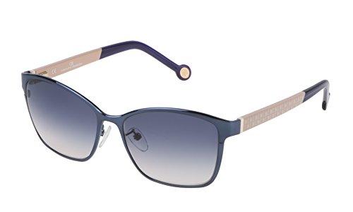 Carolina herrera she067560k63, occhiali da sole donna, blu (azul), 56